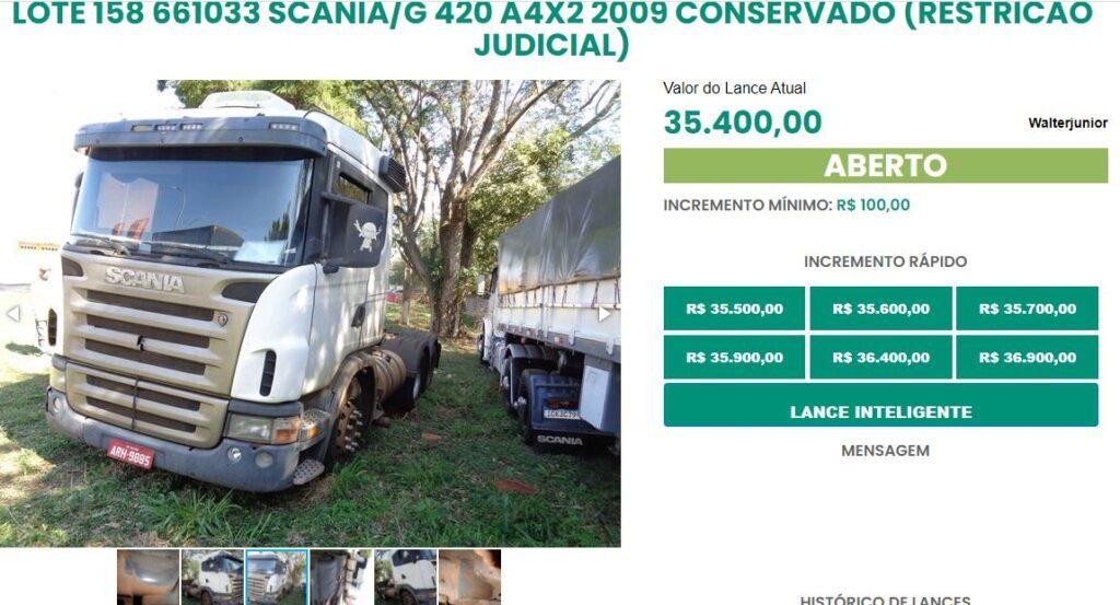 PRF realiza leilão online com 550 veículos no Paraná