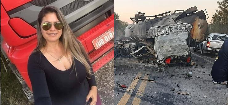 Caminhoneira Carla Giovana morre em grave acidente na BR-290/RS
