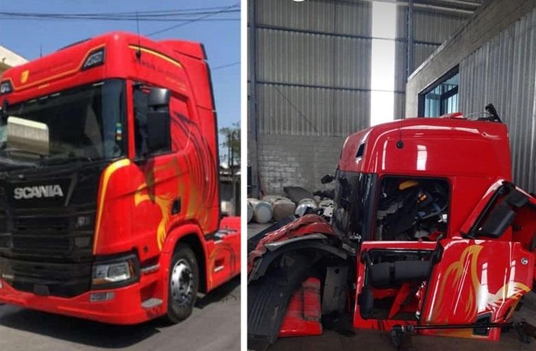 Scania Edição Especial que havia sido roubada é encontrada em desmanche em São Paulo