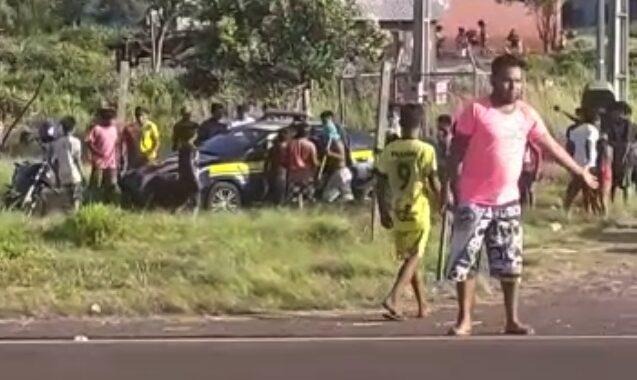 Viatura da PRF é roubado por indígenas em Nova Laranjeiras - PR