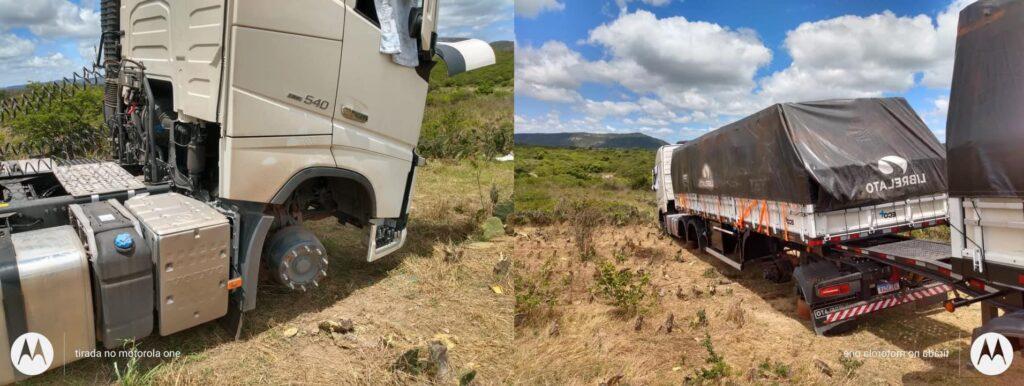 R$90 mil em prejuízo Carreta rodotrem tem todos os pneus e rodas roubados em Sanharó-PE (4)