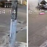 Caminhoneiro tenta parar carreta desgovernada e quase é atropelado em MG